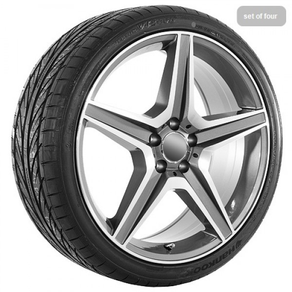 20 gunmetal replica wheels rims and tires for mercedes for Mercedes benz replica rims