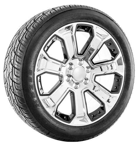 22 Chrome With Black Inserts Cadillac Escalade Wheels And